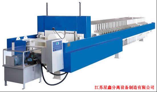 是目前最新一代的压滤机,在固液分离的方法中,它先采用高压隔膜泵压滤