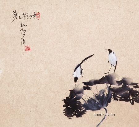 倪萍画作《神荷之美》。