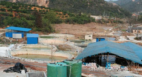 南裕公司料坑废水处置点