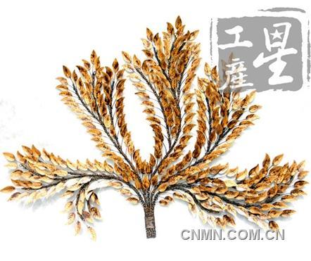金属艺术装饰品 欧式田园风壁饰树叶【现代金属工艺品