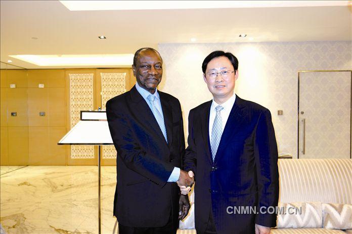 熊维平出席几内亚发展合作伙伴与投资者大会并与总统会见 推进西芒杜铁矿项目建设