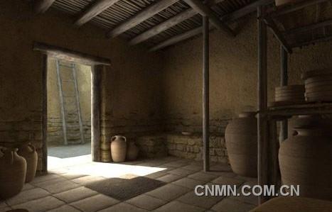 古代动漫房子室内场景