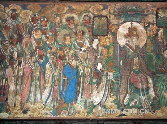 唐代的壁画内容多丰富多彩,以敦煌莫高窟为代表,壁画的表现技法高超图片