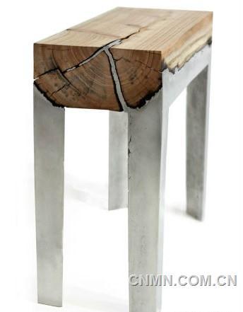 创意的家具设计当木头遇上铝