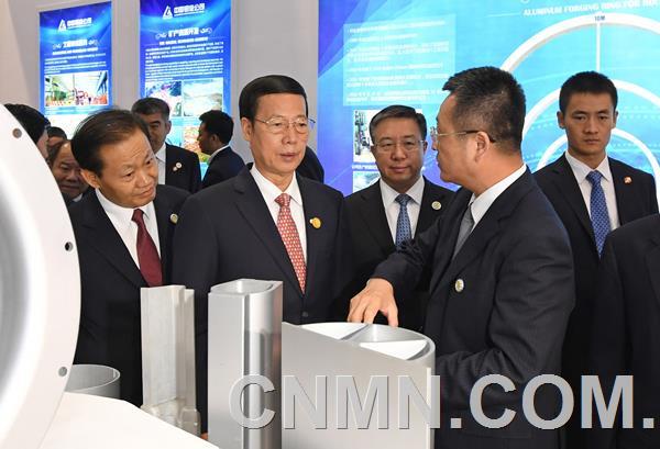 张高丽考察中国-东盟博览会中铝展厅