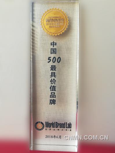"""""""魏桥""""品牌价值605.72亿元!连续15年荣登中国品牌500强!"""