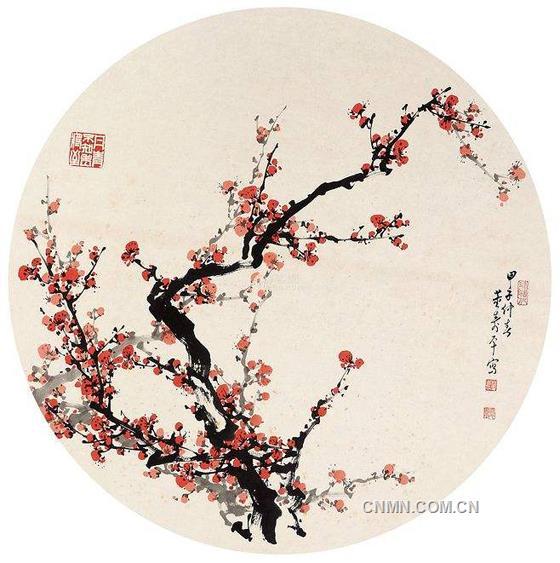 董寿平梅花作品欣赏