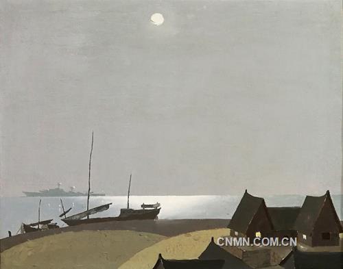 马永平油画作品赏析--《静静的渔村》