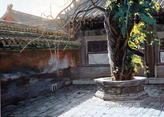 马永平油画作品赏析--《紫禁城内僻静处》