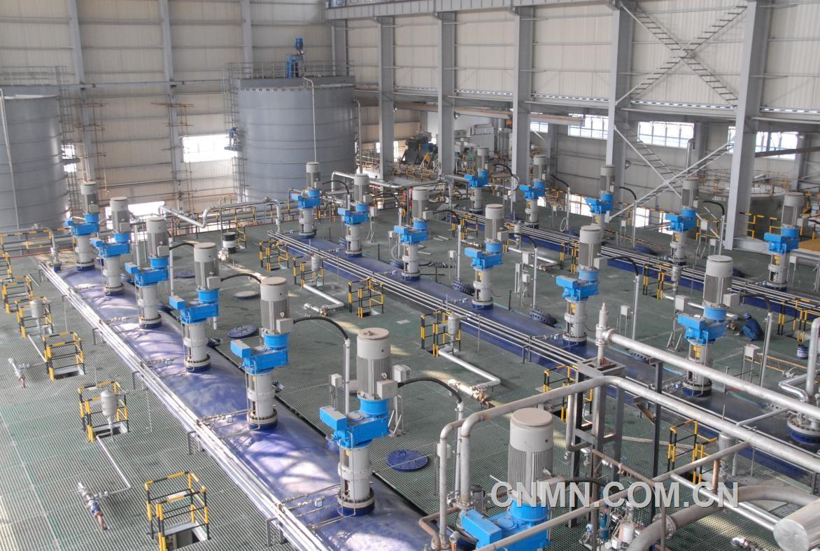 丹霞冶炼厂氧压浸出工序。