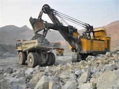德铜推进采区40m新水平开拓重点工程