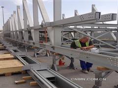 我国承建第一座海外铝合金天桥完工