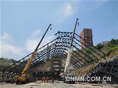 铜陵有色建安庐江龙桥铁矿项目进入主体吊装阶段