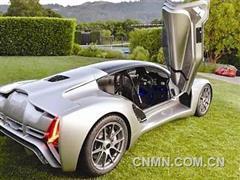 金属3D打印超级跑车亮相美国