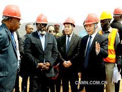 刚果(金)总统卡比拉视察中国有色集团