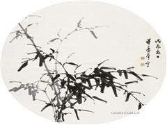 董寿平的墨竹作品欣赏